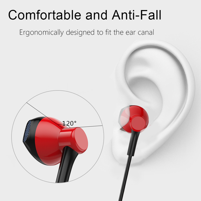 Earphone Headphones GSDUN PD7 3.5mm Stereo Wired Bass Headset with Microphone Earbuds for Iphone and Android Phones Xiaomi
