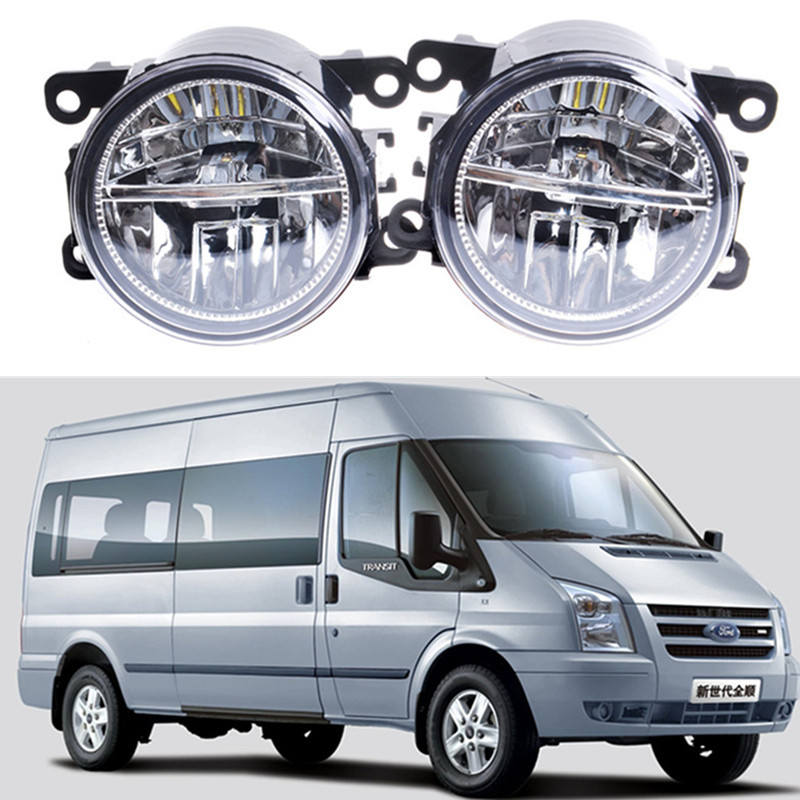 For FORD TRANSIT Platform Chassis 2006-2015 Car styling Front bumper LED fog lights 10W high brightness fog lamps 1set car styling front bumper led fog lights high brightness drl driving fog lamps 1set for ford c max fusion 2013 2014