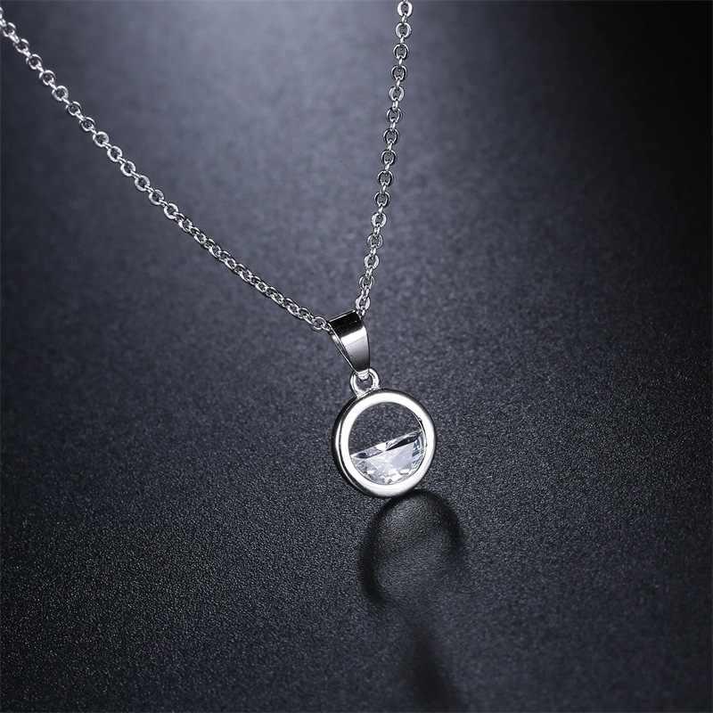 כפול הוגן פשוט קוריאה סגנון בריח שרשרת גביש מים לבן זהב צבע תליון שרשרת לנשים תכשיטים KBN445