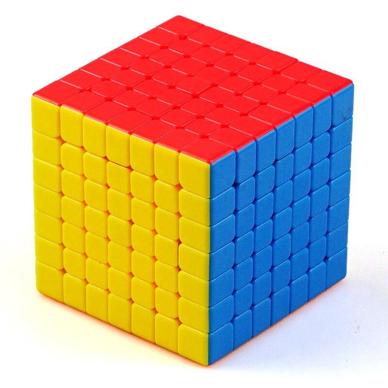 SHENGSHOU réservoir professionnel sans bâton Cube magique 7*7*7 vitesse Puzzle 7x7 Cube jouets éducatifs cubo magico