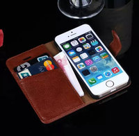 100 Genuine Leather Case For IPhone 5 With Card Holder Wallet Phone Cover Bag For Apple