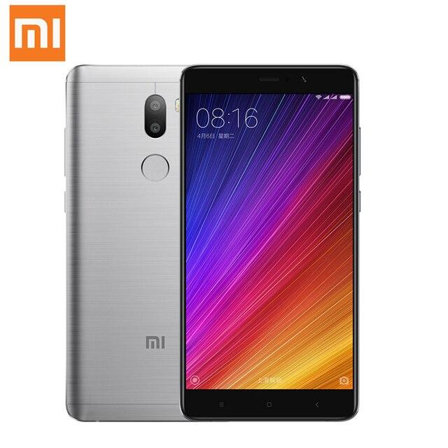 Оригинал Xiaomi Mi5S Плюс 5.7 Дюймов 1920x1080 386PPI Snapdragon 821 Quad Core Сотовые телефоны двойной Смысл Камера 6 ГБ RAM 128 ГБ ROM
