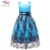 Belababy vestido da menina princesa 2017 estilo moda bordados vestido de festa roupa dos miúdos crianças princesa vestidos de flores para as meninas