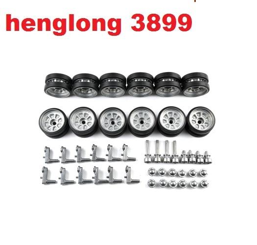 цена на Henglong HL3899 3899-1 China ZTZ99 1/16 R/C tank upgrade parts metal wheels set