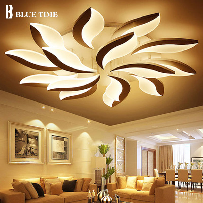 Large Home Led Ceiling Lights For Living room Bedroom Kitchen Lampara de techo Acrylic Modern LED Ceiling Lamp Lighting Fixtures modern ceiling lights design luces del techo luminarias living room bedroom dining room lamp home led ceiling lighting fittings