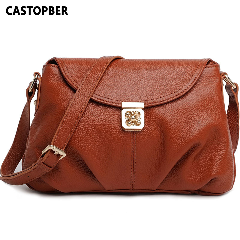 First Layer of Cowhide Genuine Leather Womens Bag Genuine Leather Bags For Women Bag Ladies Messenger Crossbody Shoulder Handbag women shoulder bag cossbody handbag genuine first layer of cow leather 2017 korean diamond lattice chain women messenger bag