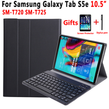 Case Keyboard For Samsung Galaxy Tab S5e 10.5 2019 SM-T720 SM-T725 T720 T725 Case for Samsung Tab S5e Keyboard Cover +Film +Pen 2017 new for samsung galaxy tab s3 9 7 removable bluetooth keyboard case for samsung tab s3 9 7 t820 t825 multifunction cover