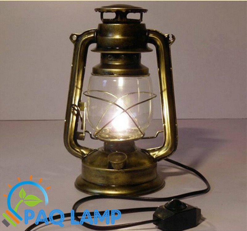 цены Vintage lamp Retro kerosene table light Modeling Iron lamp body bronze color table lights
