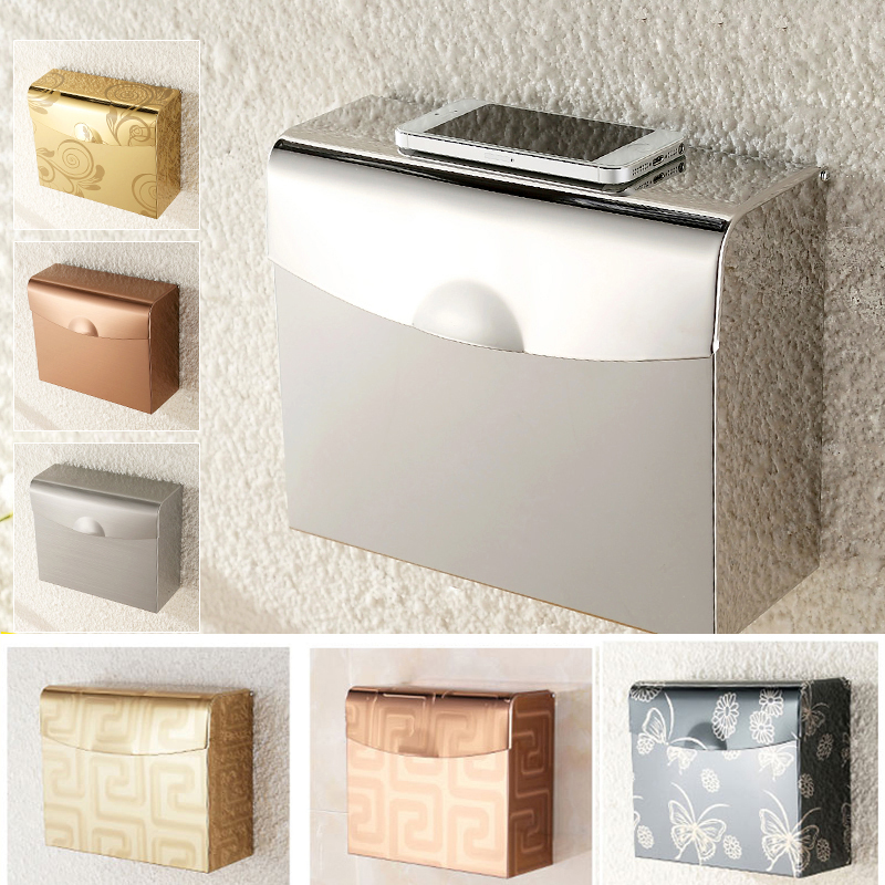 Bathroom Pocketer Wall Mounted Steel Adhesive Toilet Paper Towell Toilet Tissues Holders Rack Holder Bathroom Towel Holder Paper bathroom wall mounted stainless steel adhesive toilet paper holders toilet paper holders rack holder bathroom towel holder paper