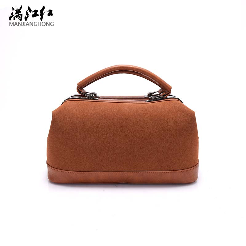NEW Women Boston Bags Matte Scrub Leather Handbags Designer Ladies Hand Bags Female Messenger Bag Simple Pillow Shoulder Bag