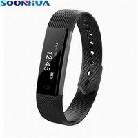 SOONHUA ID115 Smart Bracelet Fitness Tracker Pedometer Sleep Monitor Band Alarm Clock Vibration Wristband For IOS