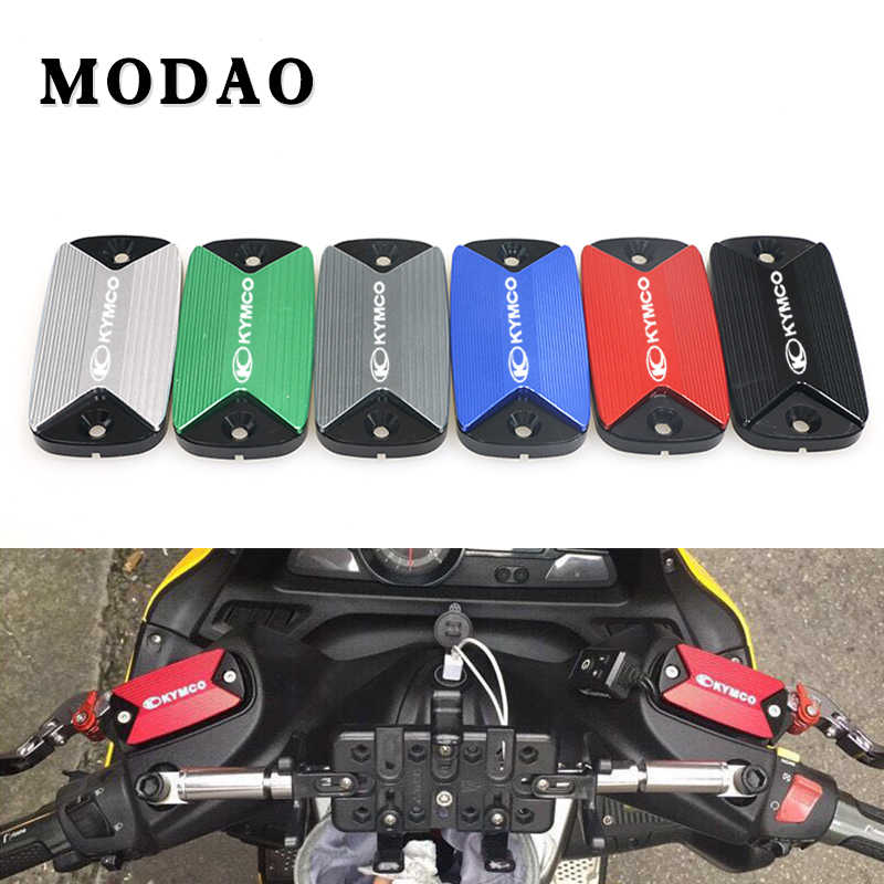 Front brake cylinder cover For KYMCO XCITING 250 300 350 400 500 CNC Aluminum cylinder clutch reservoir liquid cover