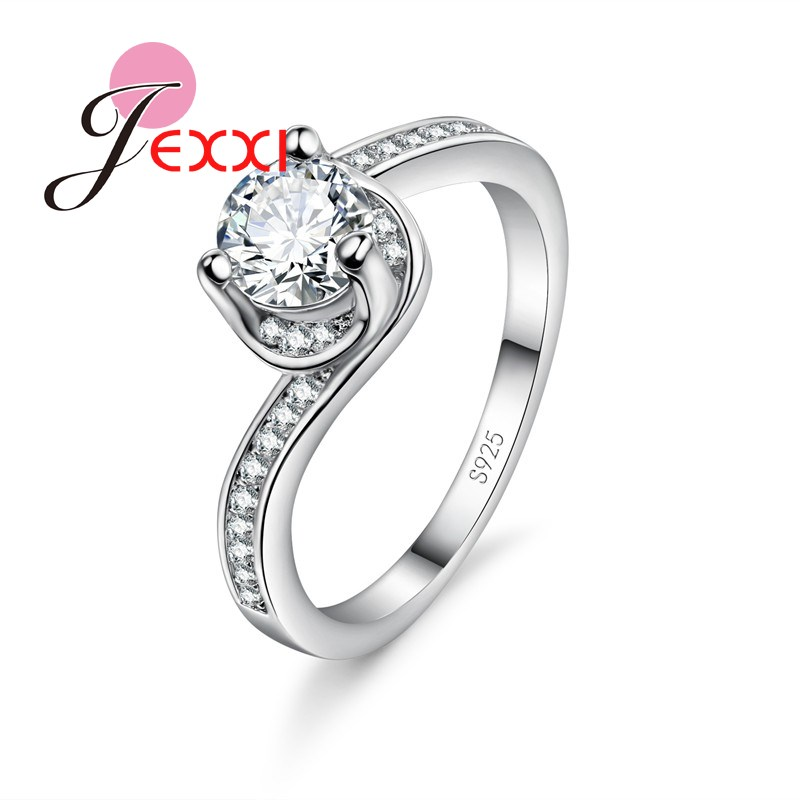 Nºjexxi Beautiful Ladies Finger Ring 925 Sterling Silver Jewelry