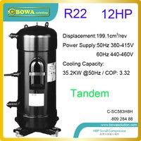 12hp r22 прокрутки Холодильный компрессоры используются в высокой температуры тепловой насос барабан камер или постоянная температура машины