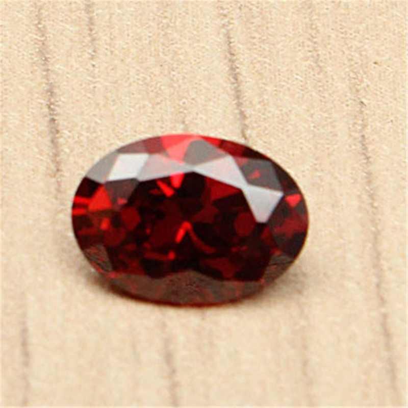 KiWarm новейший 2 шт. 7x5 мм овальной формы красно-рубиновый разрез незакрепленный драгоценный камень для кольца поделки ожерелья браслеты ремесла украшения