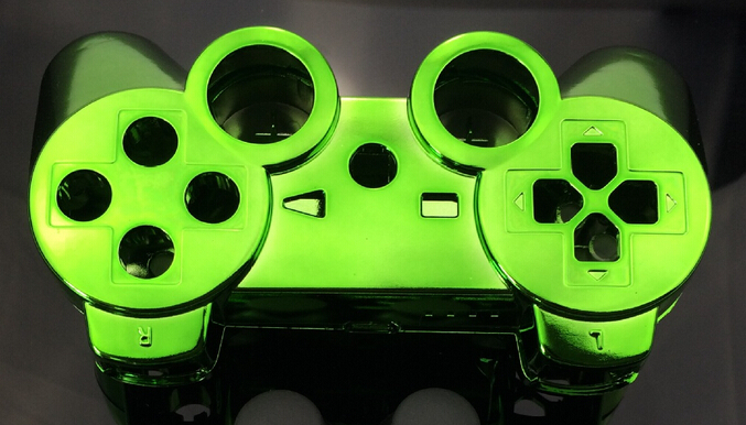 custom chrome green color shell for ps3 controller chrome green shell mod kit without small parts - Manette Ps3 Color