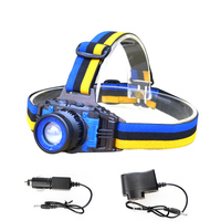 LED Headlamp Cree Q5 Headlight Waterproof 1000lm Built In Lithium Battery Rechargeable Head Llight Charger 3
