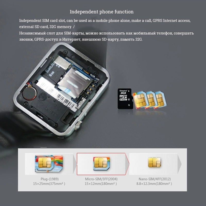 Image 4 - GT08 Bluetooth Smart Watch Phone Men Women Support 2G SIM TF Card Camera for Android Iphone Huawei Xiaomi Smartwatch PK Z60 X6-in Smart Watches from Consumer Electronics