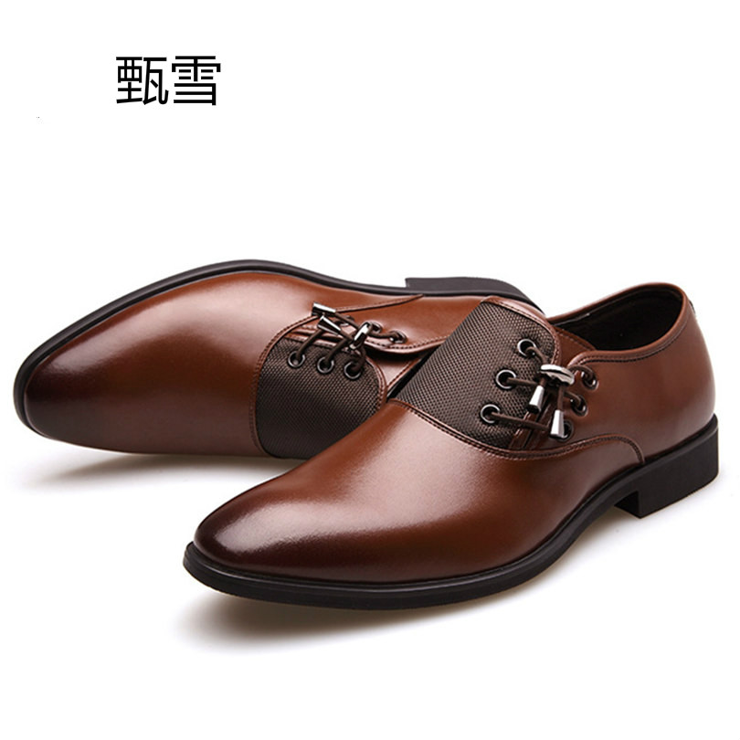 Hot Sale Men Classic Business Oxford Shoes Luxury Pointed Toe Formal Office Dress Shoes Black Brown Men Wedding Shoes Size 38-47