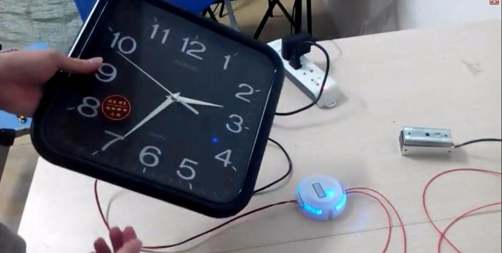Horloge sans fil mettre le bon moment pour ouvrir la serrure prop takagisme jeu vraie vie échapper salle outils - 2