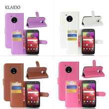 KLAIDO For Motorola Moto E4 Case Original Leather Flip Phone Bags For Moto E4 XT1762 5.0