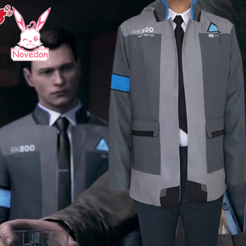Game Detroit : Become Human Connor RK800 Jacket Agent Suit Uniform Cosplay Costume For Halloween A Man Women 1