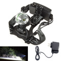 1800lm Waterproof CREE XM-L T6 3 Modes Brightness LED  Headlamp Headlight Head Lamp Light + AC Charger for Outdoor Sport