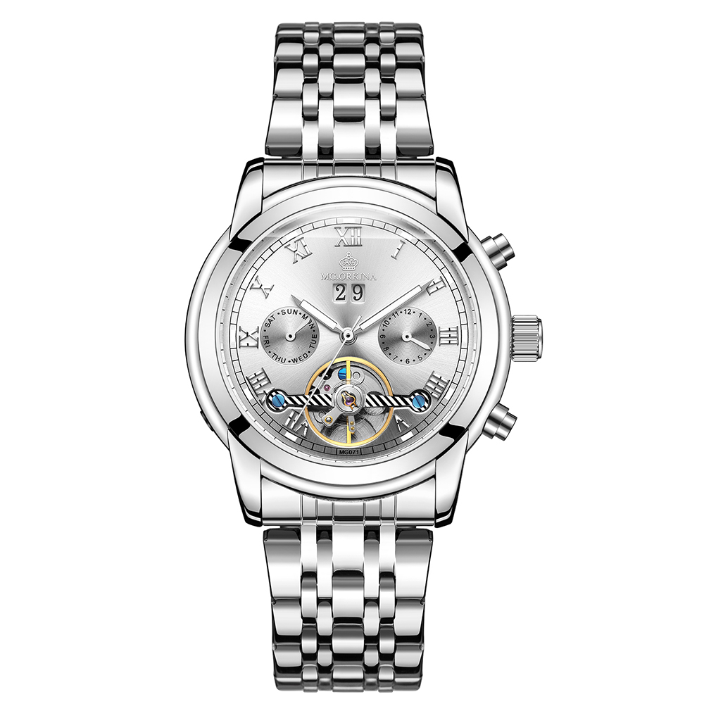 2019 nouveau hommes squelette montre-bracelet en acier inoxydable Antique Steampunk décontracté montres mécaniques mâle Heren Horloge
