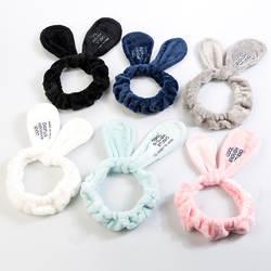 2019 Новая мода для девочек повязка для волос Wash Face ванна спа макияж обертывание кроличьи уши повязка на голову мягкая эластичная