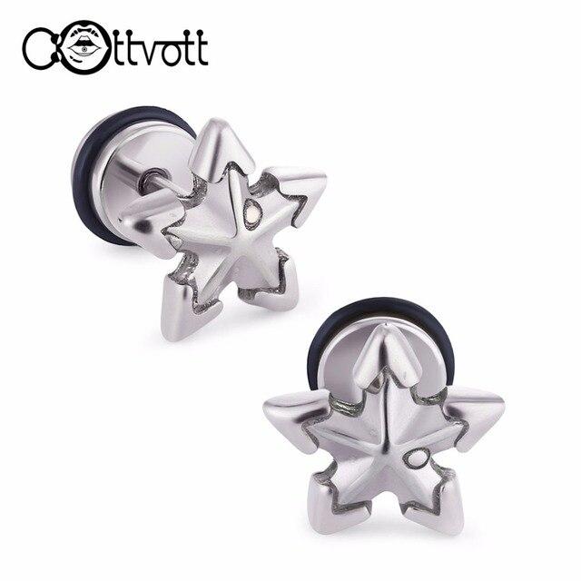 2pcs Lot Clic Stars Stud Earrings Cartilage Tragus Ear Piercing Uni Women Men Hypoallergenic Body