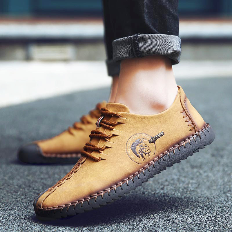 Fashion Sneakers Men Casual Shoes Oxford Loafers Zapatos Hombre Flats Moccasin Mans Footwear Slip On Plus Size Male Shoes AET620