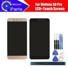 5.3 インチ ulefone S8 pro の lcd ディスプレイ + タッチスクリーンデジタイザアセンブリ 100% オリジナル新液晶 + タッチデジタイザー s8 プロ。