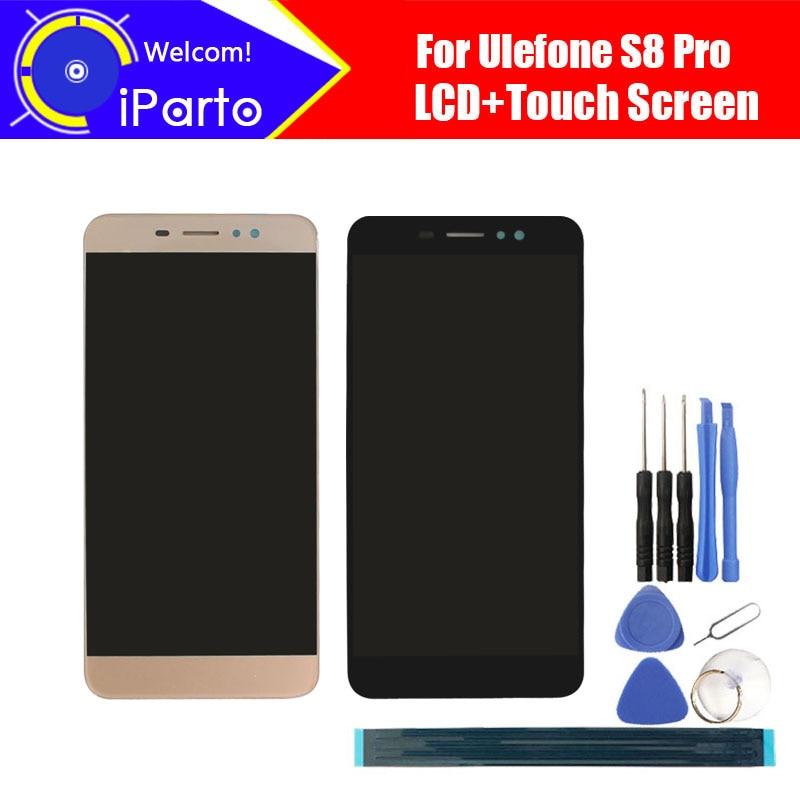 5,3 zoll Ulefone S8 Pro LCD Display + Touchscreen Digitizer Montage 100% Ursprüngliche Neue LCD + Touch Digitizer für S8 Pro.