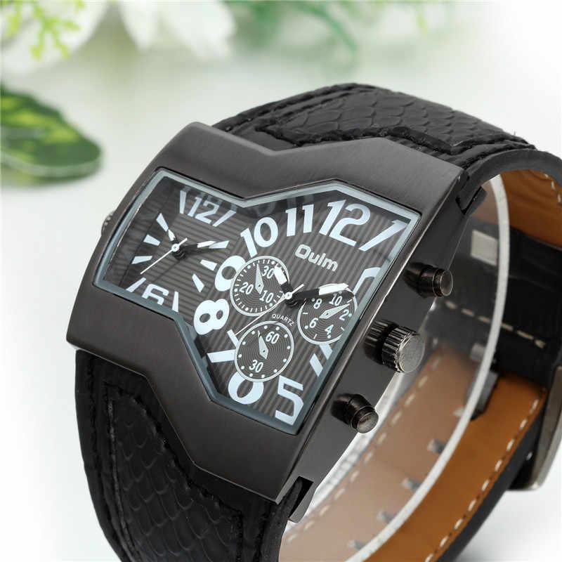 LANCARDO erkek saatler Top marka lüks quartz saat benzersiz 2 küçük aramalar mavi deri kayış erkek kol saati Relojes Hombre