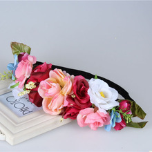 NEW Free shipping KLJH30664-2 40pcs /lot 5 colors 17CM Silk Silk flower headband Hawaii Dancer Summer Beach Party