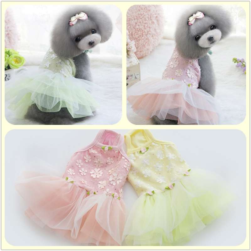 Embroidery Ballet Fl Wedding Dresses Dog Dress Princess Fair Lady Pet Clothes For Dogs Cats Chihuahua 16060 In From Home