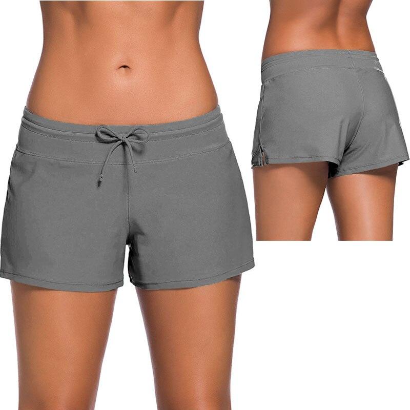 400cfde6b3 SEBOWEL 2019 Womens Bikini Swimwear Lace Up Beach Swim Shorts Black Wide  Waistband Swimsuit Bottom Shorts Female Swim Boardshort-in Two-Piece  Separates from ...