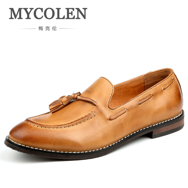 MYCOLEN New Design Men Driving Shoes Luxury Fashion Leather Comfort Men Flats Shoes Popular Men Loafers Sepatu Casual Pria jiabaisi fashion casual design leather loafer comfort men s shoes jsb170314002