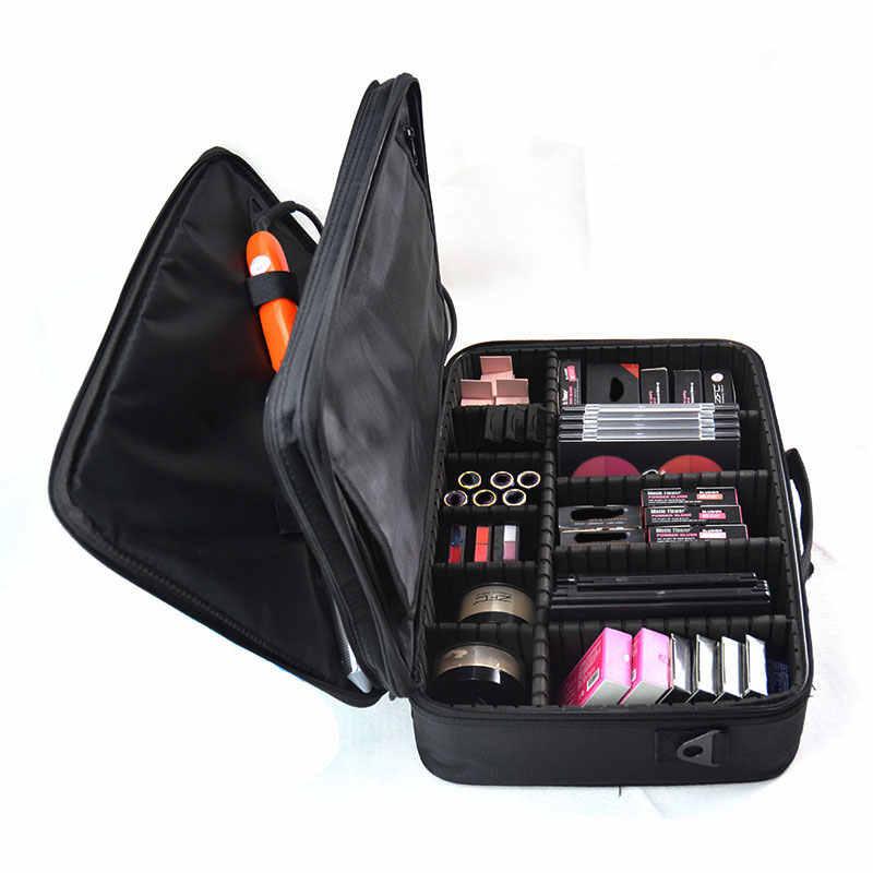 Organizador de Maquiagem profissional Caso Cosméticos Saco Grande Capacidade De Armazenamento de Viagem Escova Beleza Make Up Malas de Viagem com Alça
