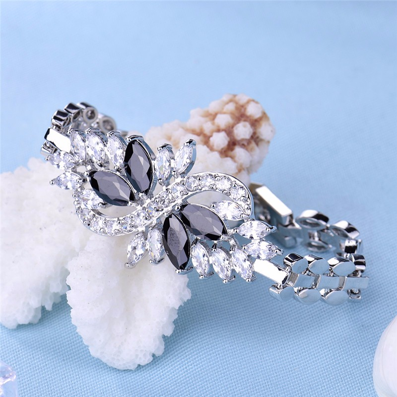 Colored Crystal Cubic Zirconia Infinity Bracelet for Women