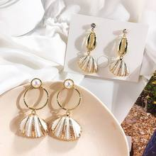 Sea Beach Style Holiday Shell Drop Dangle Earrings For Women 2019 New Boho Jewelry