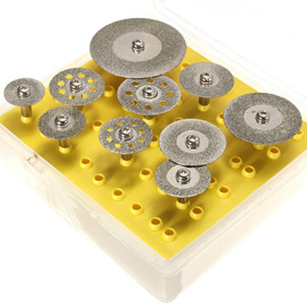 10pcs/set 16-40mm For dremel diamond grinding wheel dremel saw mini circular saw cutting disc dremel rotary tool diamond disc цена 2017