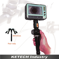 DR4555F OD 5 5mm Industrial Video Snake Endoscope 4 Way Direction Inspection Camera Borescope 4 3