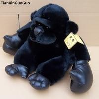high quality about 33cm lovely black orangutan plush toy soft doll birthday gift s0041
