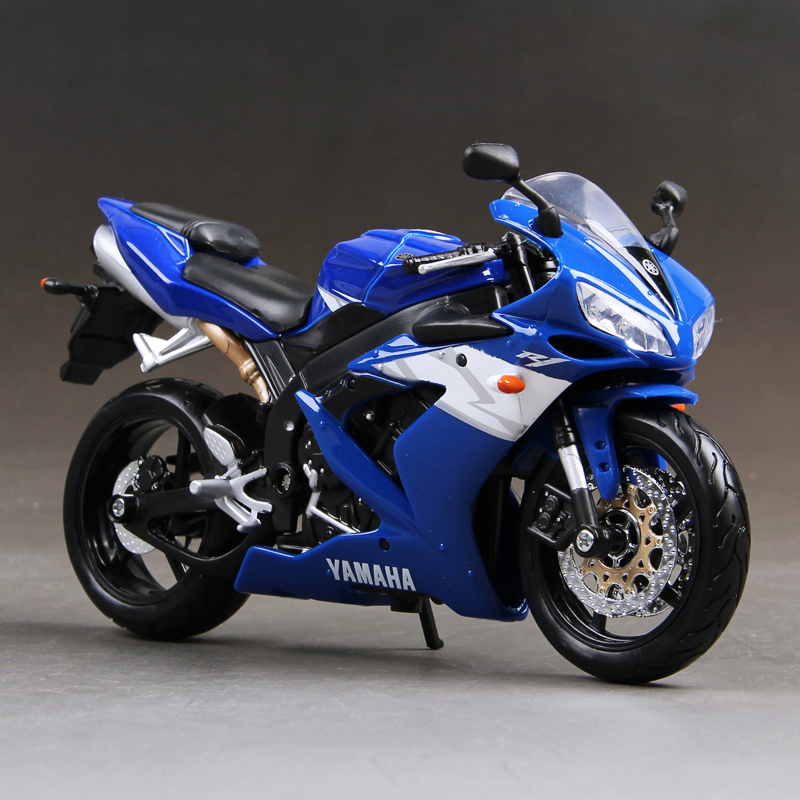 YMH YZF R1 modelo de motocicleta azul 1:12 modelos a escala de - Vehículos de juguete para niños - foto 1