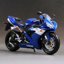 YMH YZF R1 الأزرق دراجة نارية نموذج 1:12 مقياس نماذج سبيكة دراجة نارية سباق نموذج دراجة نارية نموذج اللعب هدية لعبة دراجة نارية