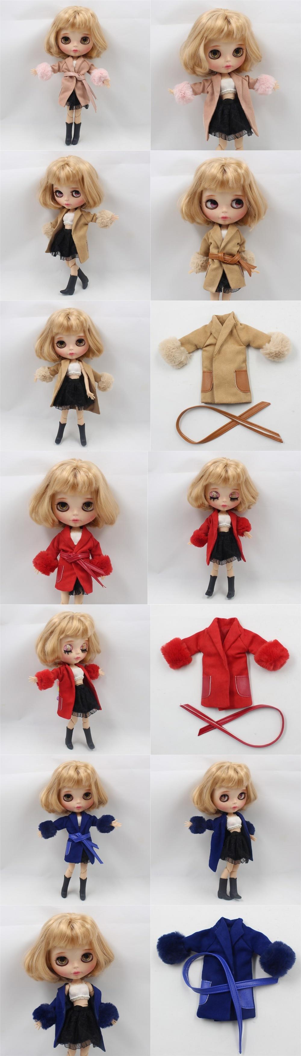 Neo Blythe Doll Jacky Coat with Belt 1