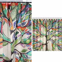 WONZOM Colorful Tree Curtains with 12 Hooks For Bathroom Decor Modern Bath Waterproof Curtain New Accessories