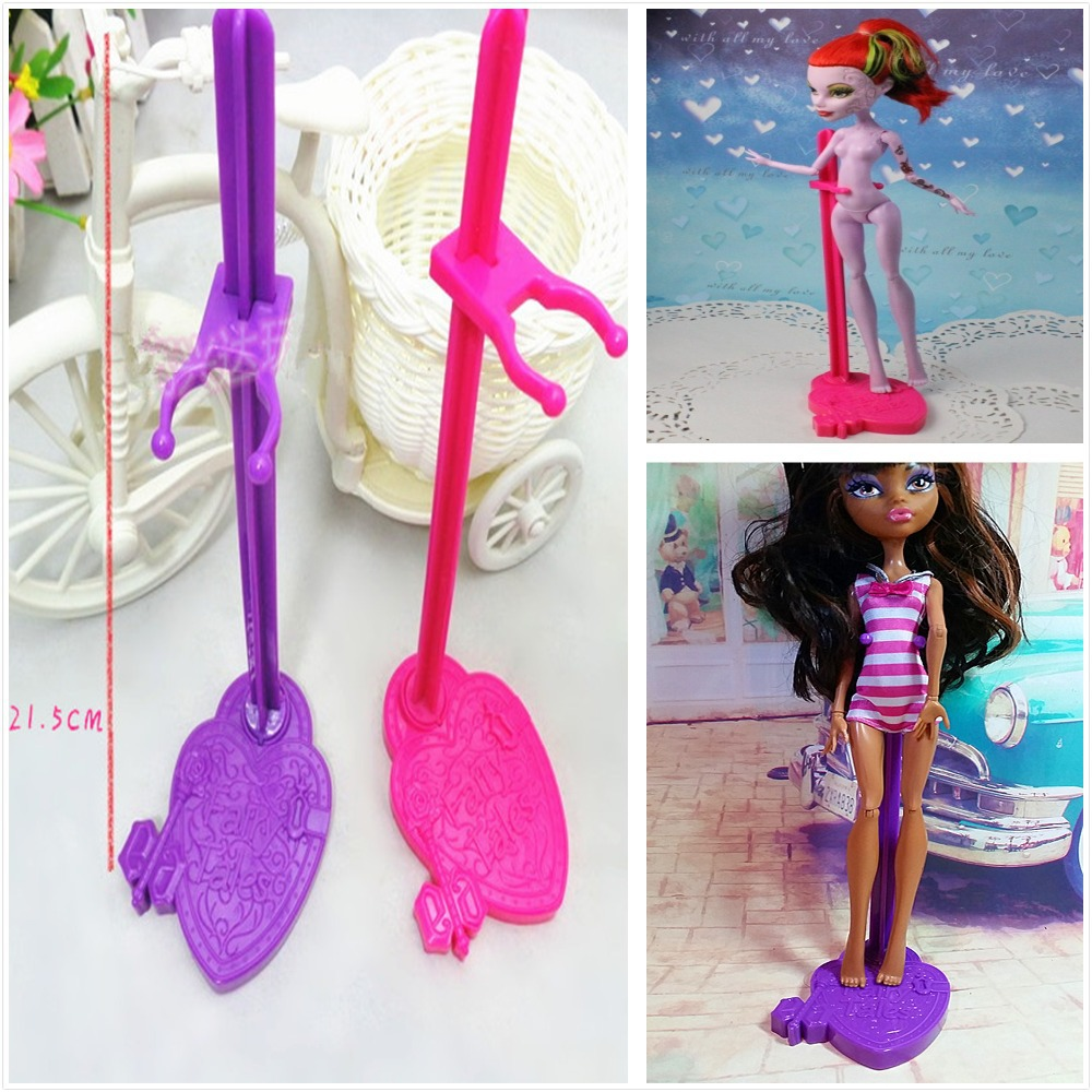 High Quality Wholesale 50pcs lot Fairy Tales font b Doll b font Stands Display Holders For