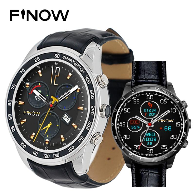 Новинка 2017 года finow Q7 плюс smart watch Носимых устройств с 0.3MP MTK6580 Android 5,1 Rom8GB поддержка 3G Wifi BT 4,0 для Для мужчин/Для женщин